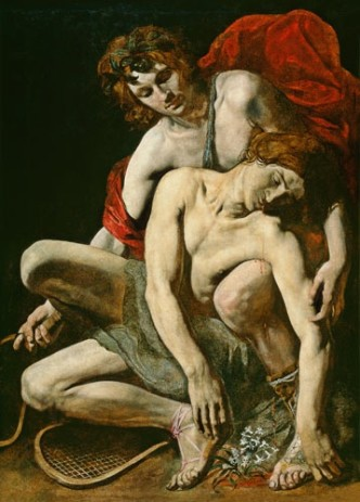 Death of Hyacinth Caravaggio School
