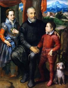 Sofonisba-Anguissola Family portrait